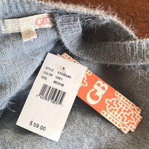 9d40728dc3 Gianni Bini Dresses - Gianni Bini fuzzy gray sweater dress open back NWT